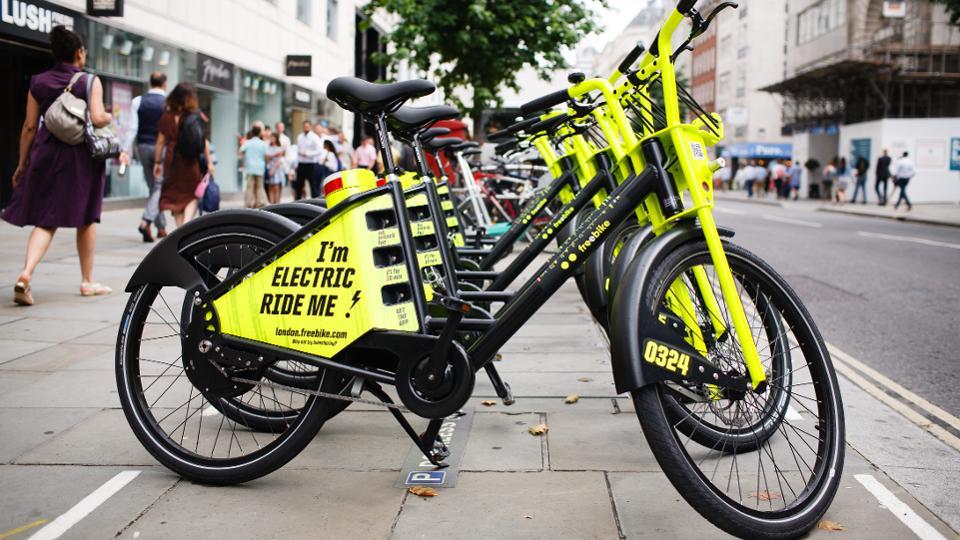 Freebikes in Cheapside, London
